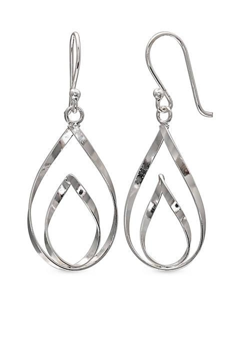 Belk Silverworks Simply Sterling Double Teardrop Earrings