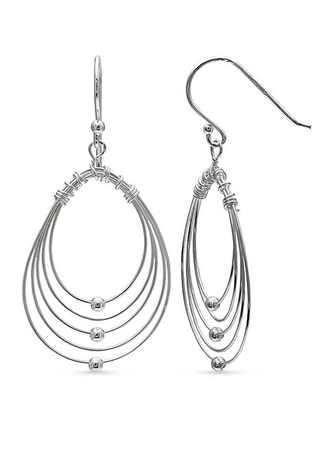 Belk Silverworks Simply Sterling Graduated Teardrop Wire Drop