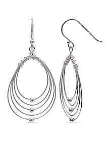 Simply Sterling Graduated Teardrop Wire Drop Earrings