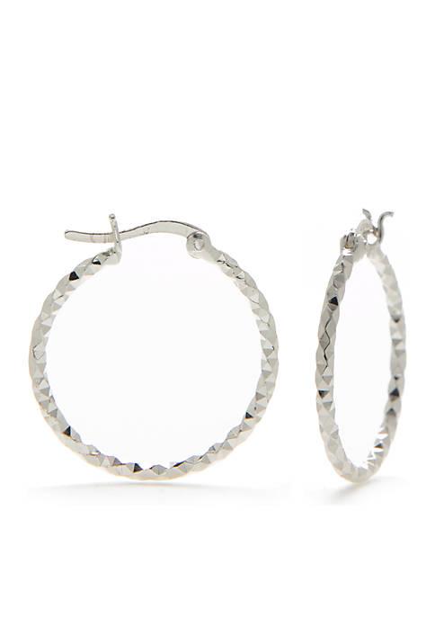 Belk Silverworks Sterling Silver Hoop Earring