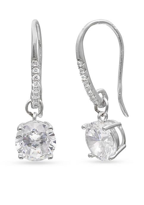 Belk Silverworks Simply Sterling Round Cubic Zirconia Drop