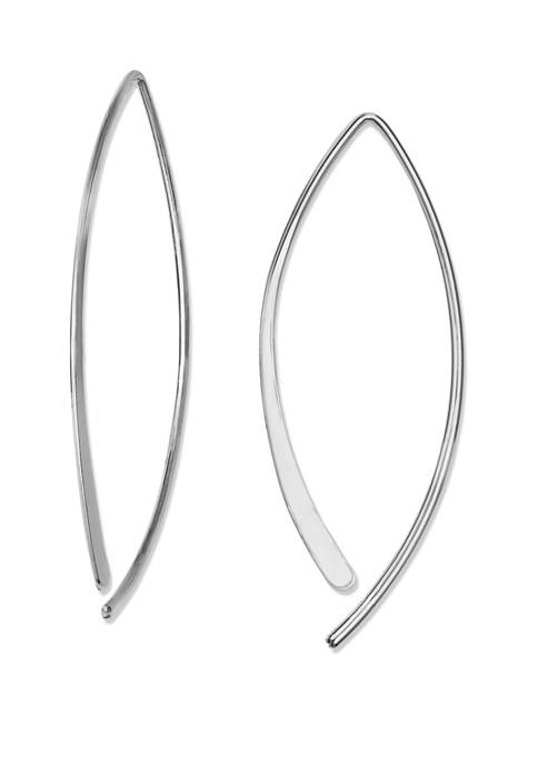 55 mm x 18 mm Polished Threader Earrings