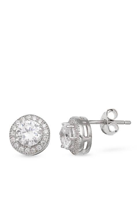 Belk & Co. Simply Sterling Round Stud Earrings