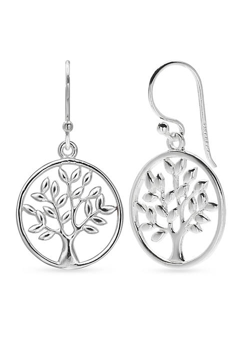 Belk Silverworks Simply Sterling Polished Family Tree Drop