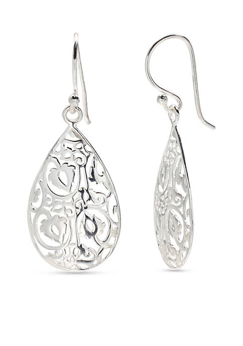 Belk Silverworks Sterling Silver Polished Filigree Teardrop