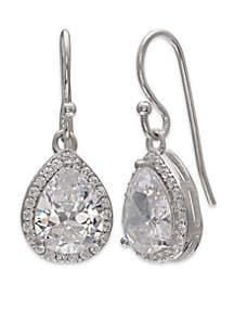 Sterling Silver Pace Cubic Zirconia Teardrop Earrings