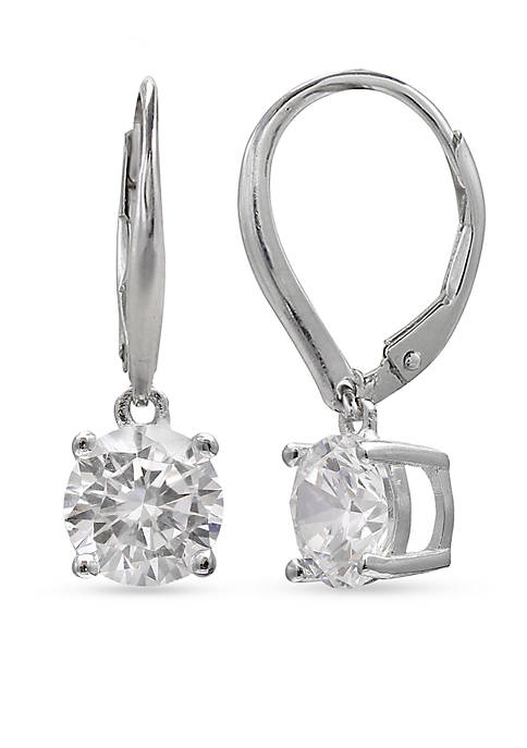 Belk Silverworks Simply Sterling Cubic Zirconia Drop Earrings