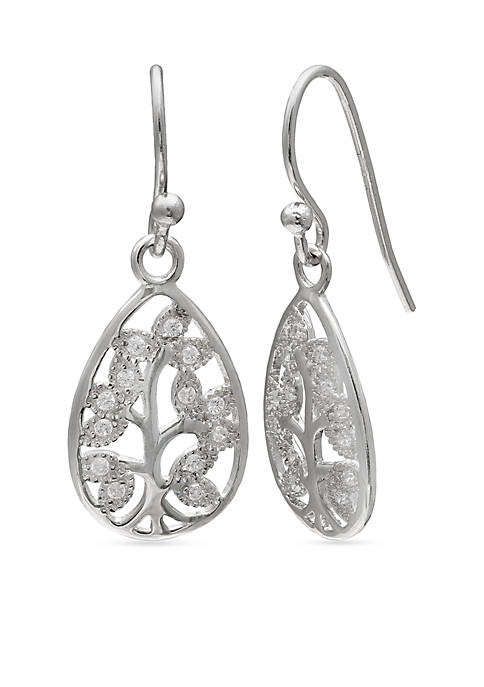 Belk Silverworks Simply Sterling Pave Cubic Zirconia Family