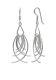 Simply Sterling Multi Drop Linear Earrings