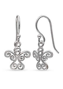 Simply Sterling Angel Swirl Drop Earrings