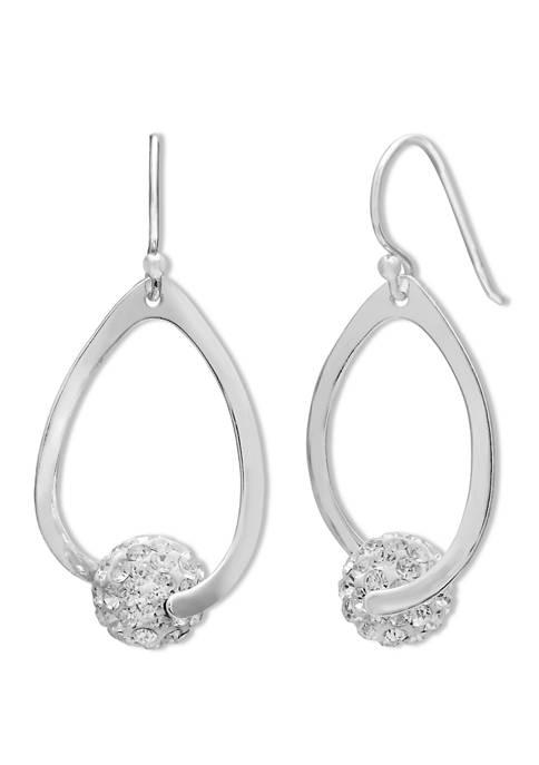 Belk Silverworks Crystal Fireball Teardrop Earrings in Sterling