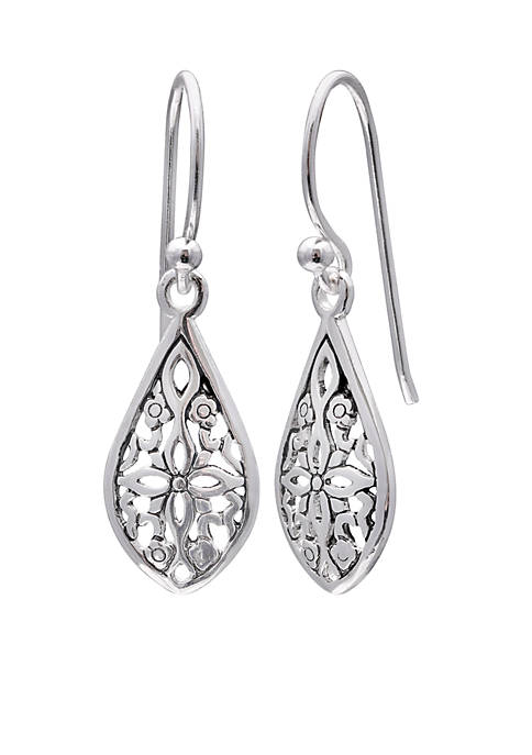 Belk Silverworks Simply Sterling Silver Filigree Teardrop Drop