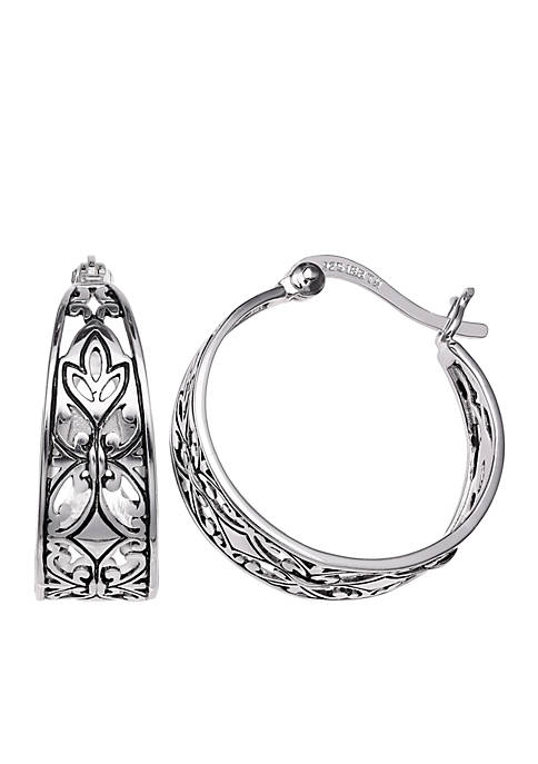 Belk Silverworks Simply Sterling Silver 20-mm. Filigree Oxidized