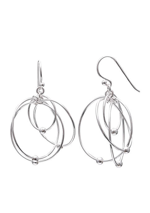 Belk Silverworks Sterling Silver Multi Wire Drop Earrings