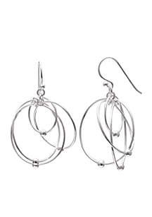 Sterling Silver Multi Wire Drop Earrings