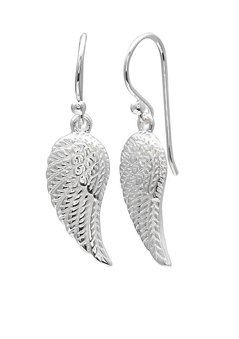 Belk Silverworks Sterling Silver Wing Drop Earrings