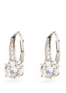 Sterling Silver Cubic Zirconia Polished Earrings