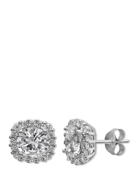 Belk Silverworks 3.16 ct. t.w. Round Stud Earrings
