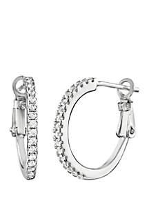 Polished Half Hoop Earrings