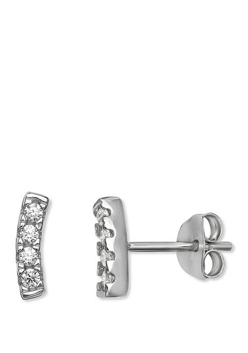 1/8 ct. t.w. Cubic Zirconia Crawler Earrings