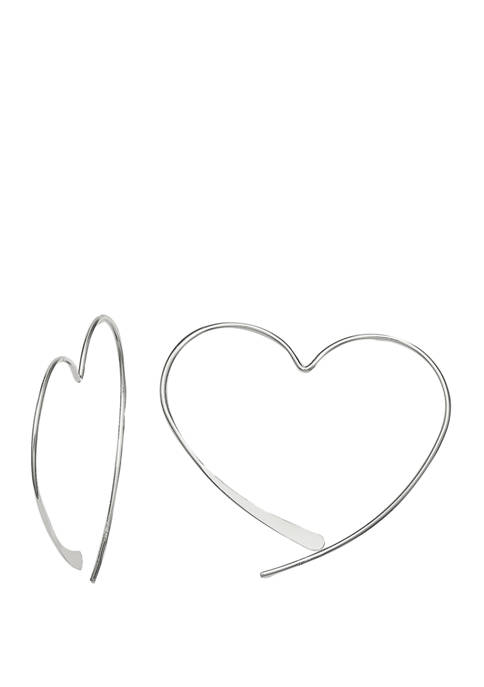 Belk Silverworks 35 Millimeter Polished Wire Heart Threader