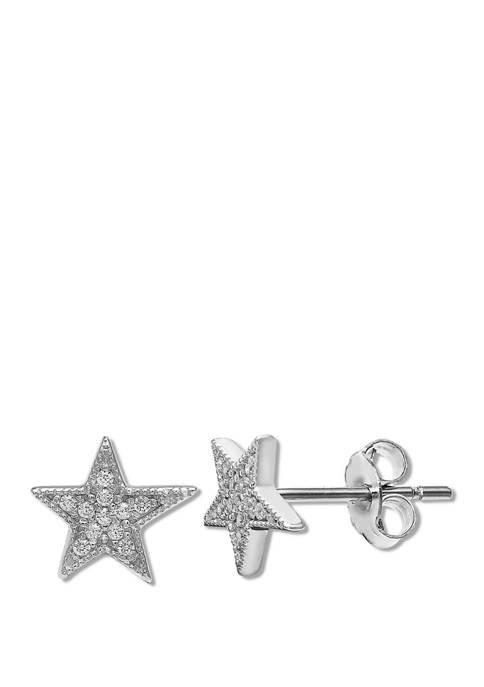 1/10 ct. t.w. Cubic Zirconia Star Stud Earrings