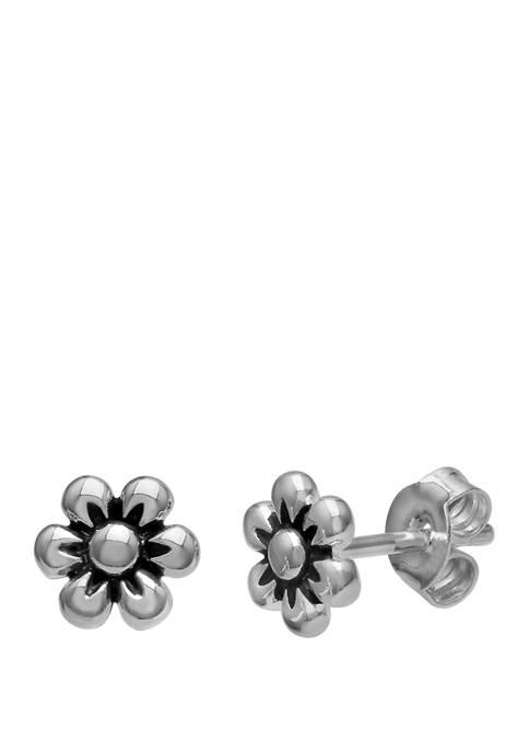 Belk Silverworks 7 Millimeter Sterling Silver Polished Oxidized