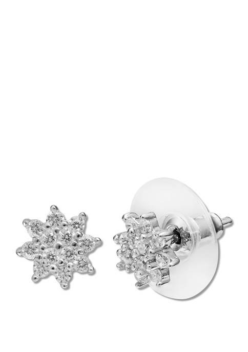 1/3 ct. t.w. Cubic Zirconia Flower Stud Earrings