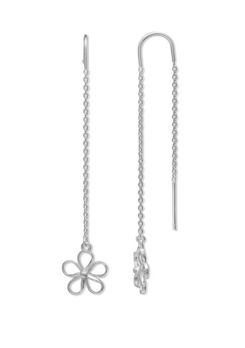 Belk Silverworks 11 Millimeter Oxidized Flower Chain Drop