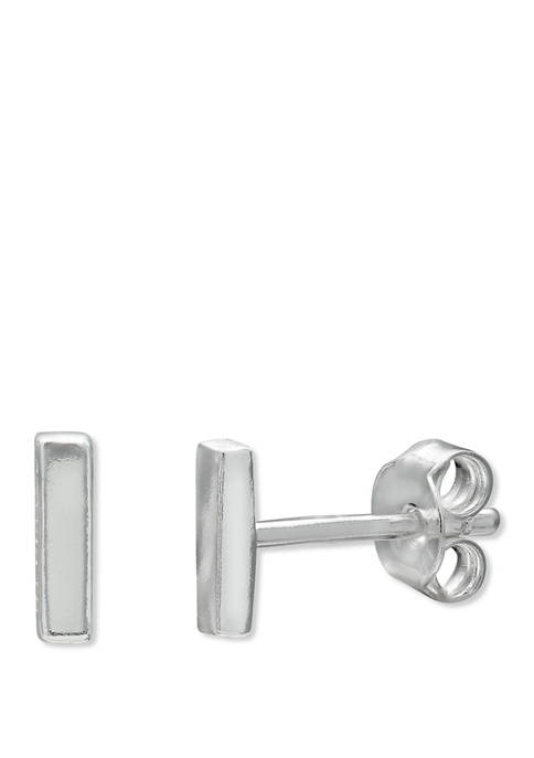 Polished Bar Stud Earrings