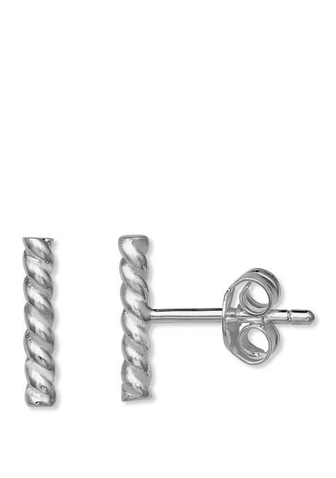 Polished Rope Stud Earrings