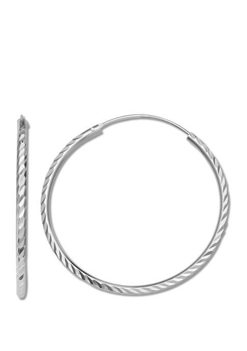2 mm x 40 mm Endless Hoop Earrings