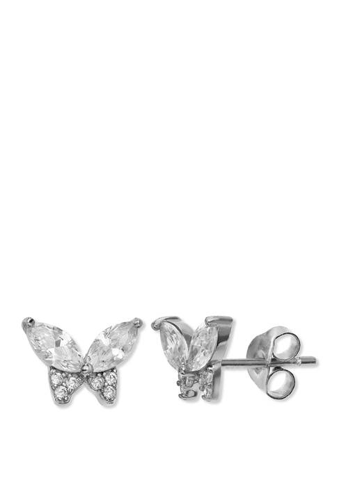 1.06 ct. t.w. Cubic Zirconia Butterfly Stud Earrings