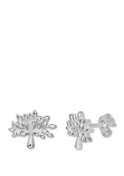 Polished Family Tree Earrings