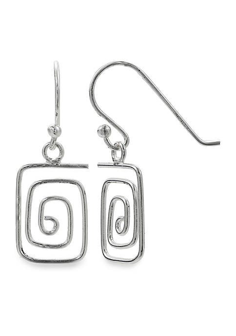 Belk Silverworks Simply Sterling Square Wire Wrap Drop