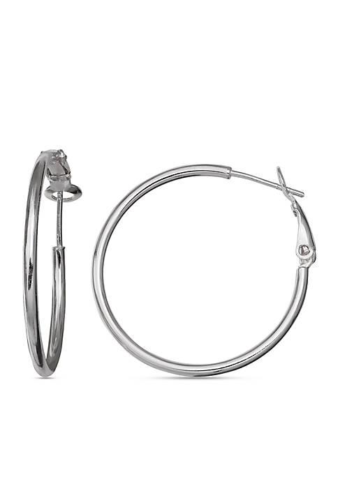 Simply Sterling Tube Hoop Earrings