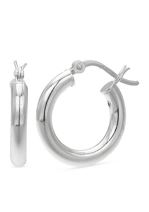 Belk Silverworks Simply Sterling Polished Hoop Earrings