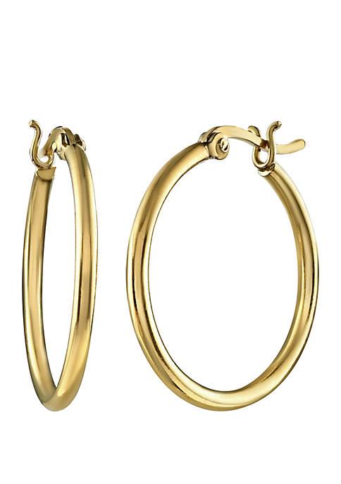 Gold-Tone 25 mm Hoop Earrings