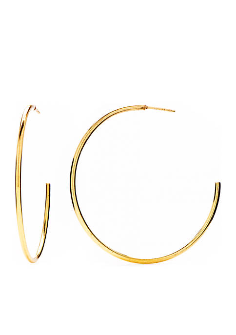 Belk Silverworks Gold-Tone Hoop Earrings