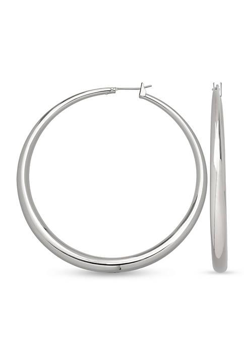 Belk Silverworks Fine Silver Plated Round Graduated Hoop