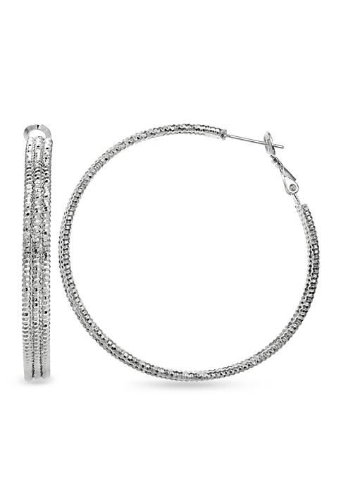Belk Silverworks Fine Silver Plated Diamond Cut Round