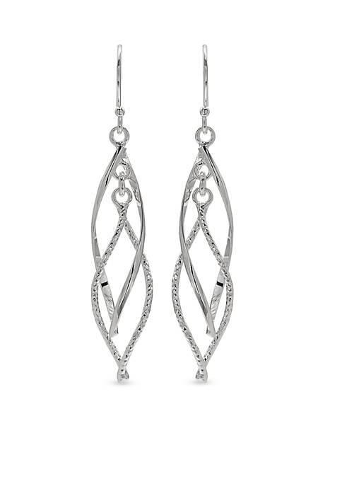 Belk Silverworks Fine Silver Plated Double Drop Earrings