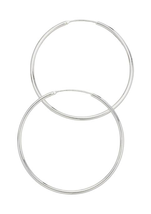 Belk Silverworks 50 Millimeter Silver Tone Endless Hoop
