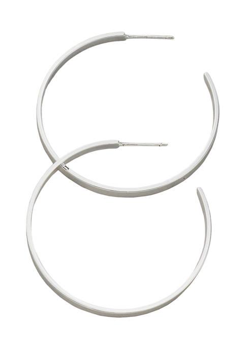 Belk Silverworks 40 Millimeter Silver Tone Flat C