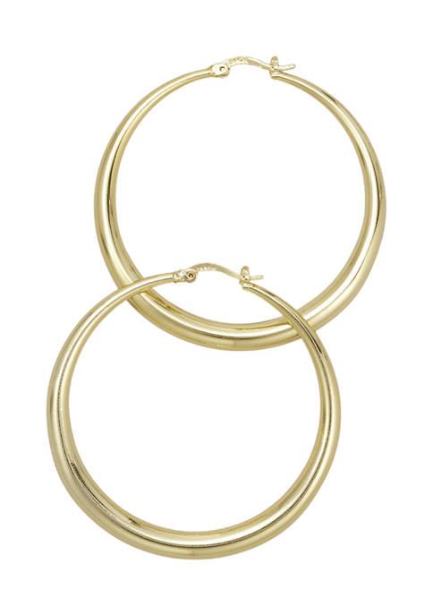 Belk Silverworks Polished Gold-Tone Click Top Hoop Earrings