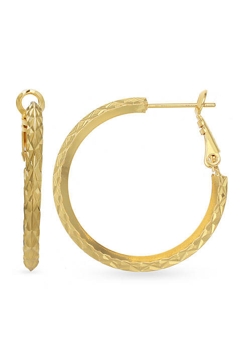 24k Gold Over Fine Silver-Plated 30-mm. Hoop Earrings