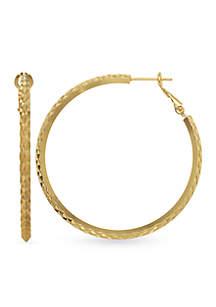 Belk Silverworks 24k Gold Over Fine Silver-Plated 45-mm. Hoop Earrings