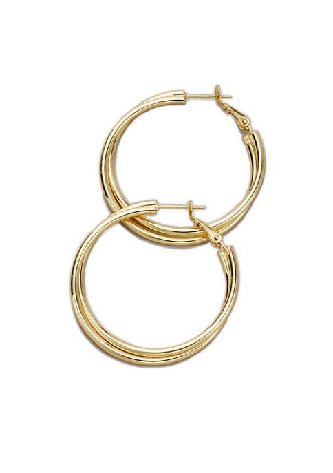 Belk Silverworks Polished Hinge Post Hoop Earrings