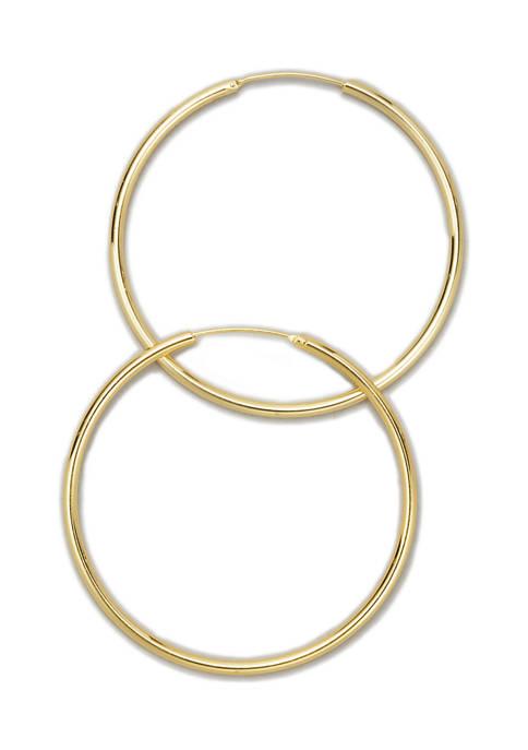 Belk Silverworks Gold Tone Endless Hoop Earrings