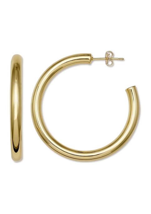 Belk Silverworks Gold Tone C Hoop Earrings